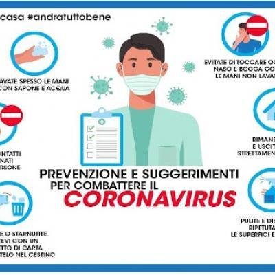 Prevenzione e suggerimenti per evitare il contagio da COVID-19
