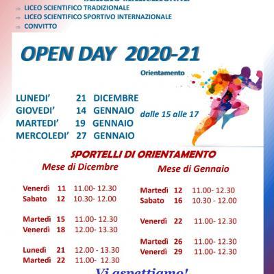 Sportelli orientamento e Open Day Amatrice - A.S.2020-2021