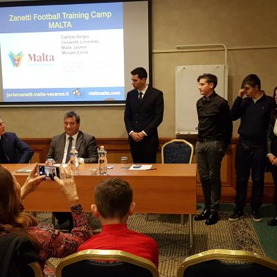 Malta Football Training Camp 2018 A.S.2017-18 incontro con Zanetti