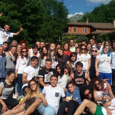 Amatrice-Pranzo di fine anno-alunni Liceo A.S.2016-17